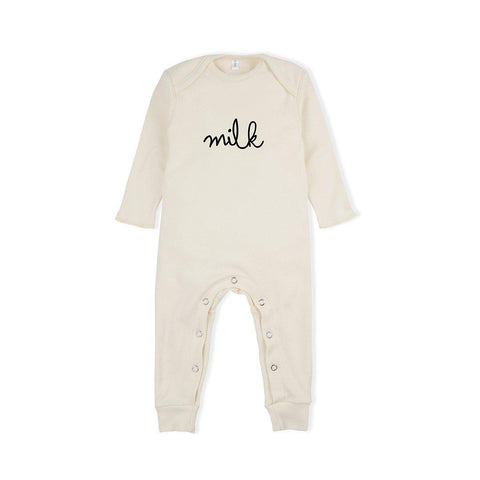 Organic Zoo Milk Playsuit - Natural-Rompers- Natural Baby Shower