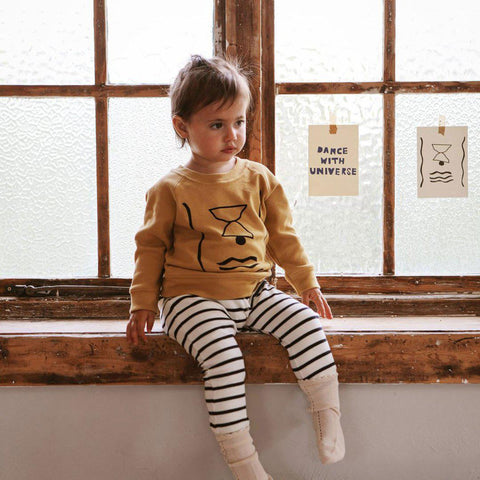 Organic Zoo Rising Set Top - Olive-Long Sleeves- Natural Baby Shower