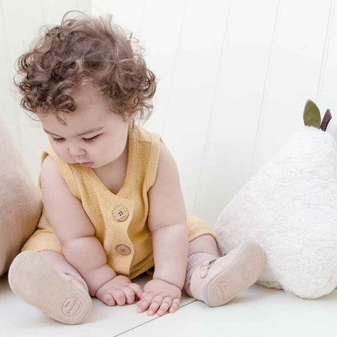 Organic Zoo Romper - Sahara-Rompers- Natural Baby Shower