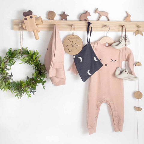 Organic Zoo Sleepy Playsuit - Clay-Rompers- Natural Baby Shower