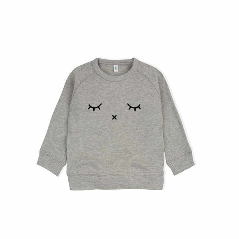 Organic Zoo Sleepy Sweatshirt - Grey-Jumpers- Natural Baby Shower