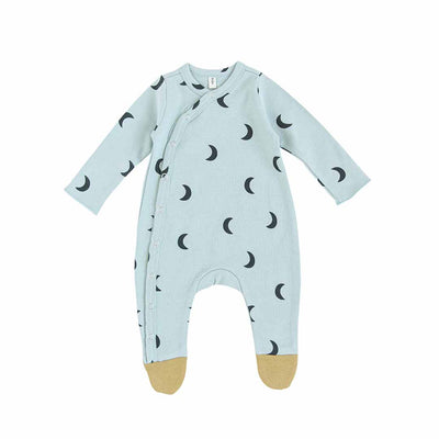Organic Zoo Suit with Feet - Midnight-Rompers- Natural Baby Shower
