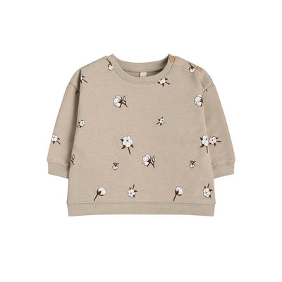 Organic Zoo Sweatshirt - Cotton Field-Jumpers- Natural Baby Shower