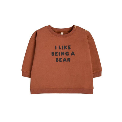 Organic Zoo Sweatshirt - I Like Being A Bear-Jumpers- Natural Baby Shower