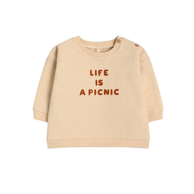 Organic Zoo Sweatshirt - Life Is A Picnic-Jumpers- Natural Baby Shower