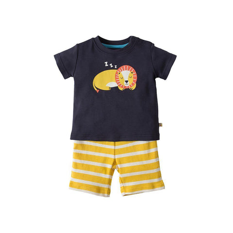 Frugi Little Perran PJ's - Navy/Lion
