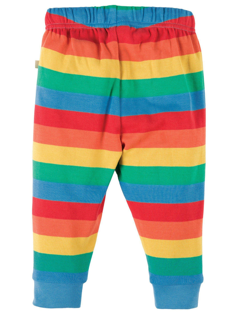 Frugi Kneepatch Crawlers - Rainbow Stripe Back