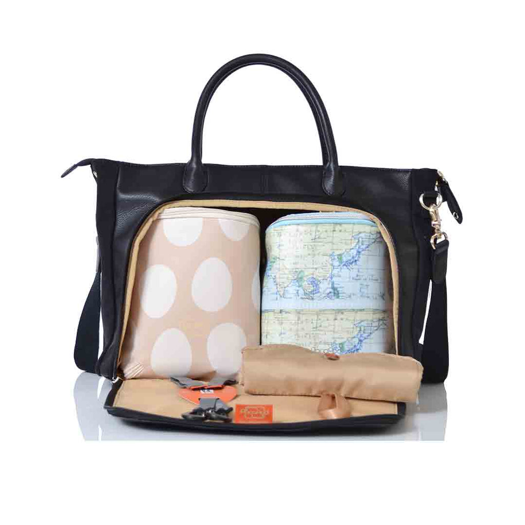 eb7f434d0017a ... PacaPod Changing Bag - Fortuna - Black-Changing Bags- Natural Baby  Shower ...