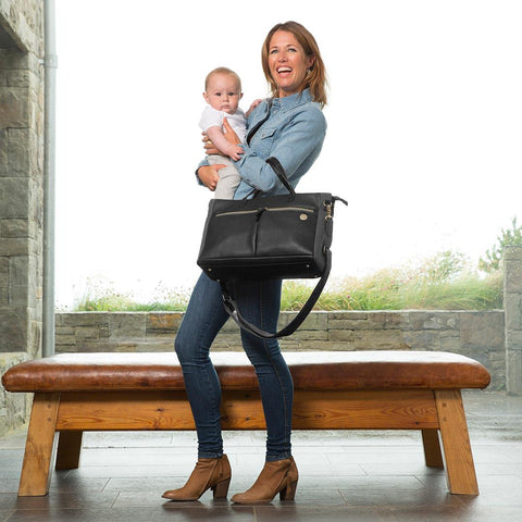 PacaPod Changing Bag - Fortuna - Black-Changing Bags- Natural Baby Shower