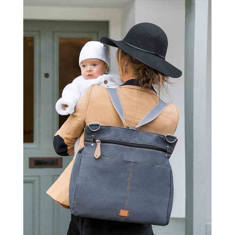 PacaPod Changing Bag - Oban - Black Charcoal Lifestyle