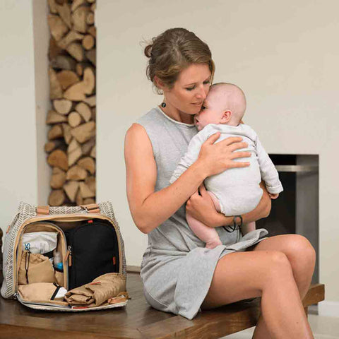 PacaPod Changing Bag - Richmond - Dove Herringbone-Changing Bags- Natural Baby Shower
