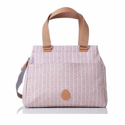 PacaPod Changing Bag - Richmond - Dusty Pink Herringbone