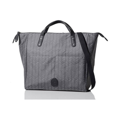 PacaPod Changing Bag - Saunton - Charcoal Herringbone-Changing Bags-Default- Natural Baby Shower