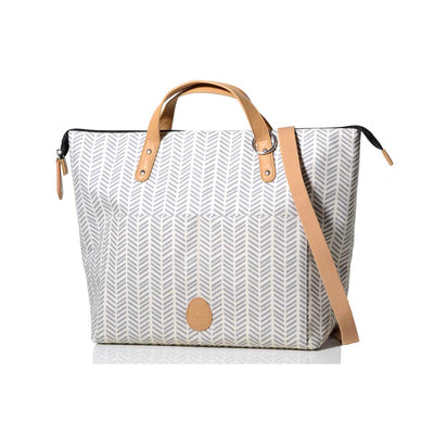 PacaPod Changing Bag - Saunton - Dove Herringbone-Changing Bags-Default- Natural Baby Shower
