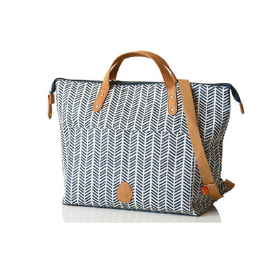 PacaPod Changing Bag - Saunton - Navy Herringbone-Changing Bags-Default- Natural Baby Shower