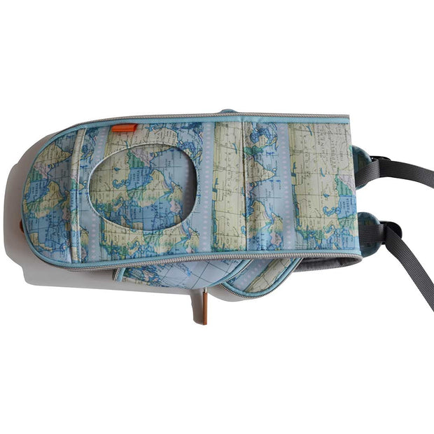 PacaPod Feeder Pod - Map Print-Changing Bag Accessories-Default- Natural Baby Shower