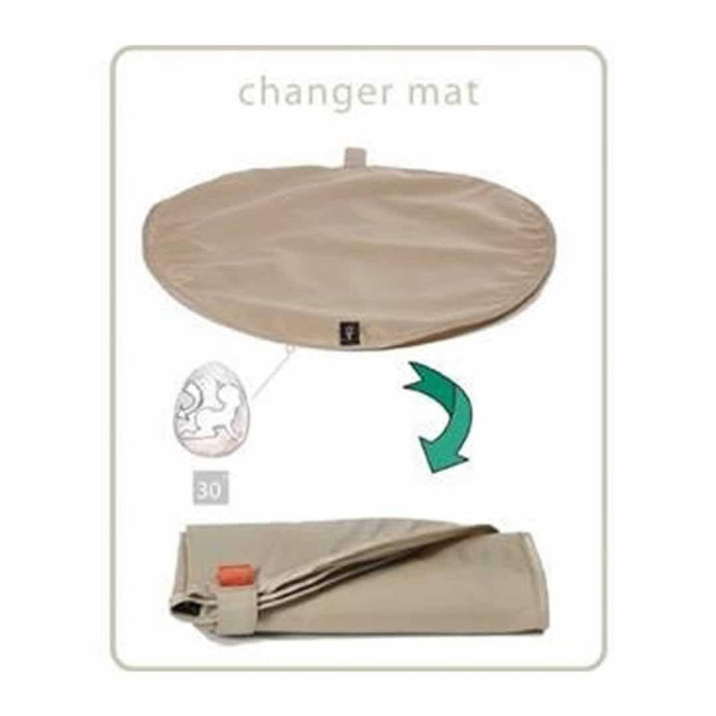 PacaPod Changing Bag - Sequoia - Linen Changing Mat