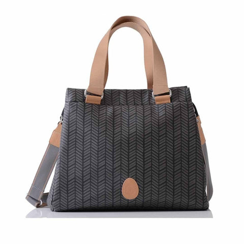 PacaPod Changing Bag - Richmond Charcoal Herringbone