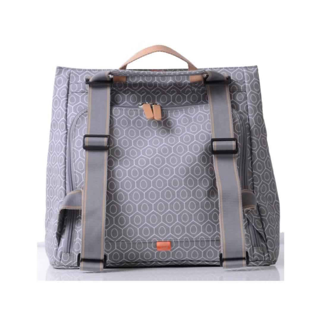 Pacapod Lewis Changing Bag - Dove Tile Back