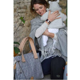 PacaPod Changing Bag - Richmond - Navy Herringbone-Changing Bags- Natural Baby Shower