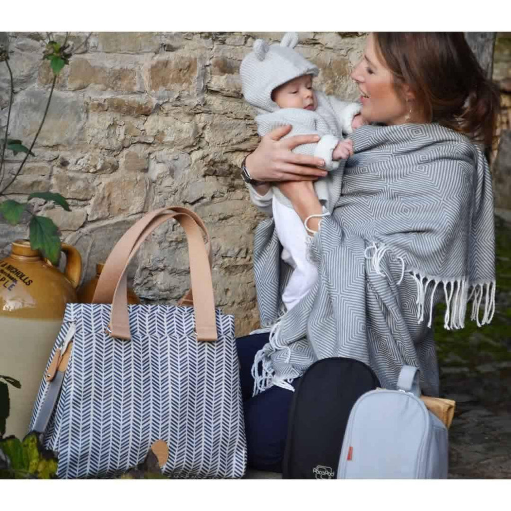PacaPod Changing Bag - Richmond - Navy Herringbone - Changing Bags - Natural Baby Shower