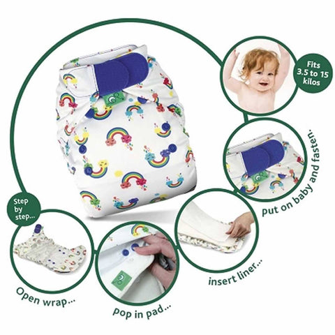 TotsBots PeeNut RNFL Kit – White-Nappy Packs- Natural Baby Shower