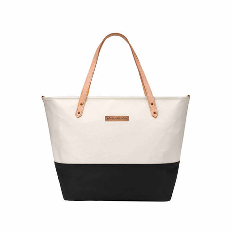 Petunia Pickle Bottom Changing Bag - Downtown Tote - Birch/Black