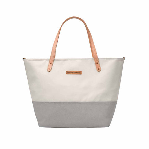 Petunia Pickle Bottom Changing Bag - Downtown Tote - Birch/Stone