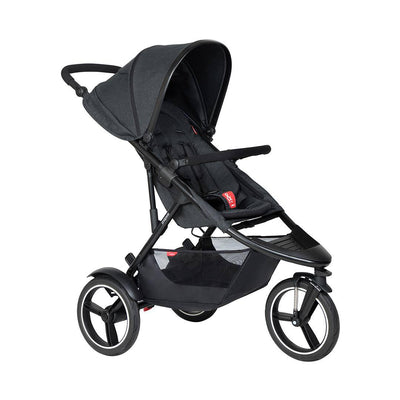 Phil & Teds Dash Pushchair - Black-Strollers-Black- Natural Baby Shower