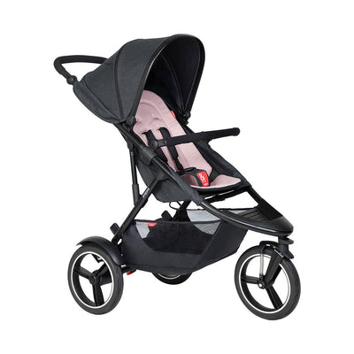 Phil & Teds Dash Pushchair - Blush-Strollers-Blush- Natural Baby Shower