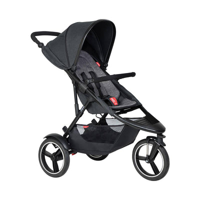 Phil & Teds Dash Pushchair - Charcoal-Strollers-Charcoal- Natural Baby Shower