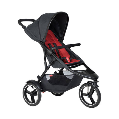 Phil & Teds Dash Pushchair - Chilli-Strollers-Chilli- Natural Baby Shower