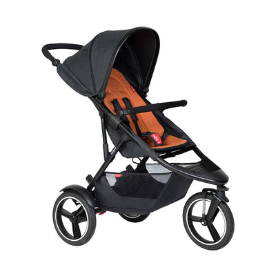 Phil & Teds Dash Pushchair - Rust-Strollers-Rust- Natural Baby Shower
