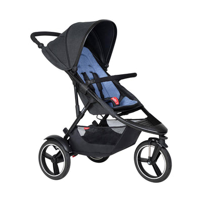 Phil & Teds Dash Pushchair - Sky-Strollers-Sky- Natural Baby Shower