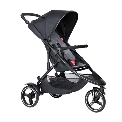 Phil & Teds Dot Pushchair - Charcoal-Strollers-Charcoal- Natural Baby Shower