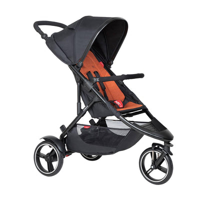 Phil & Teds Dot Pushchair - Rust-Strollers-Rust- Natural Baby Shower
