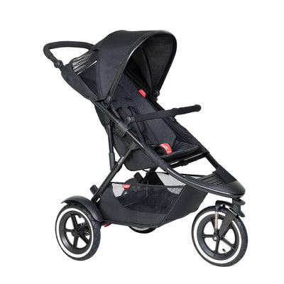 Phil & Teds Sport Pushchair - Black-Strollers-Black- Natural Baby Shower