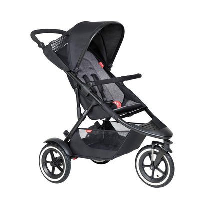 Phil & Teds Sport Pushchair - Charcoal-Strollers-Charcoal- Natural Baby Shower