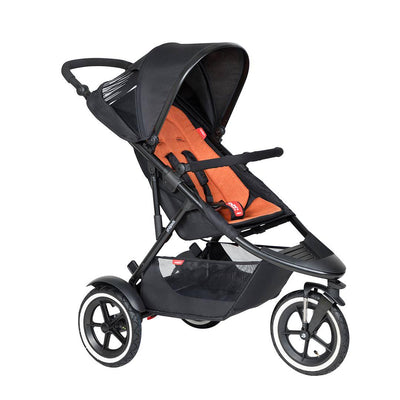 Phil & Teds Sport Pushchair - Rust-Strollers-Rust- Natural Baby Shower