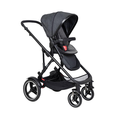 Phil & Teds Voyager Pushchair - Charcoal-Strollers-Charcoal- Natural Baby Shower