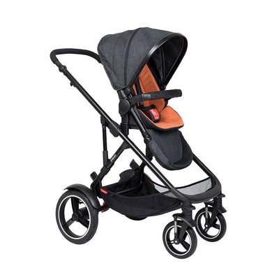Phil & Teds Voyager Pushchair - Rust-Strollers-Rust- Natural Baby Shower