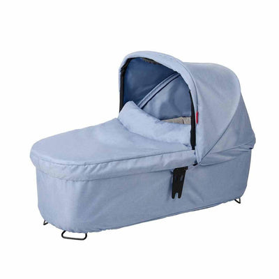 Phil & Teds Dash Snug Carrycot - Blue Marl-Carrycots- Natural Baby Shower