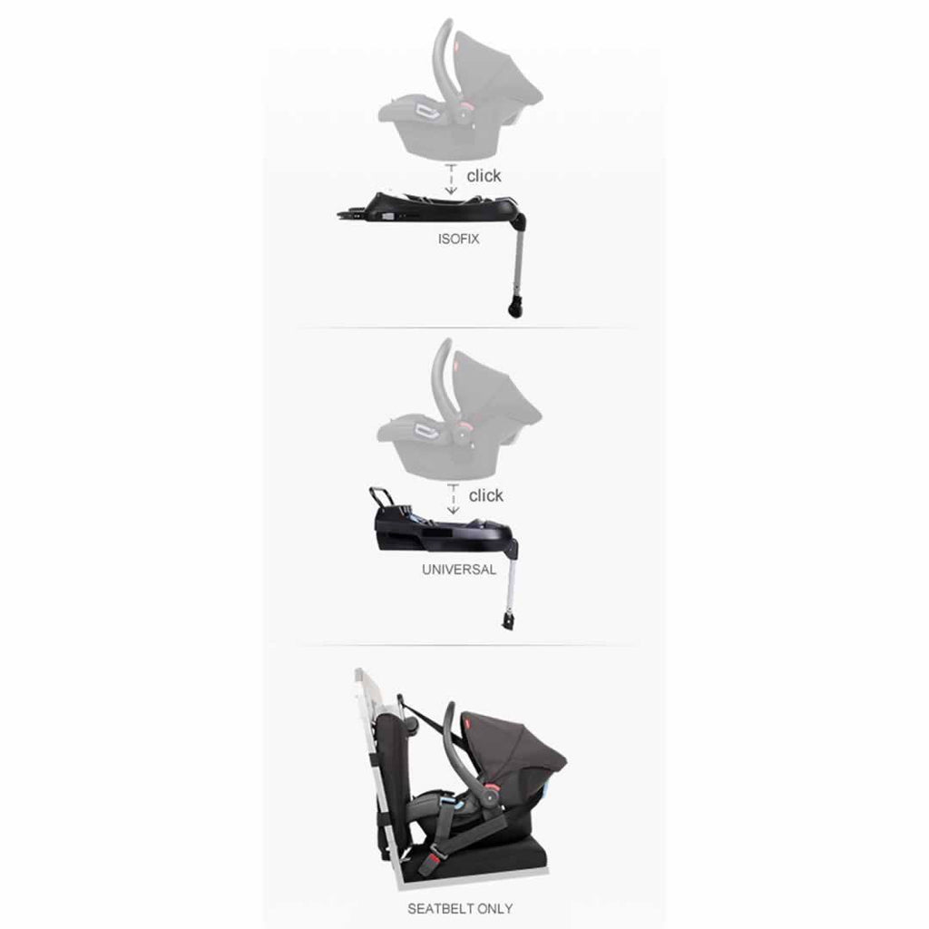 Phil & Teds Alpha Car Seat - Black Bases