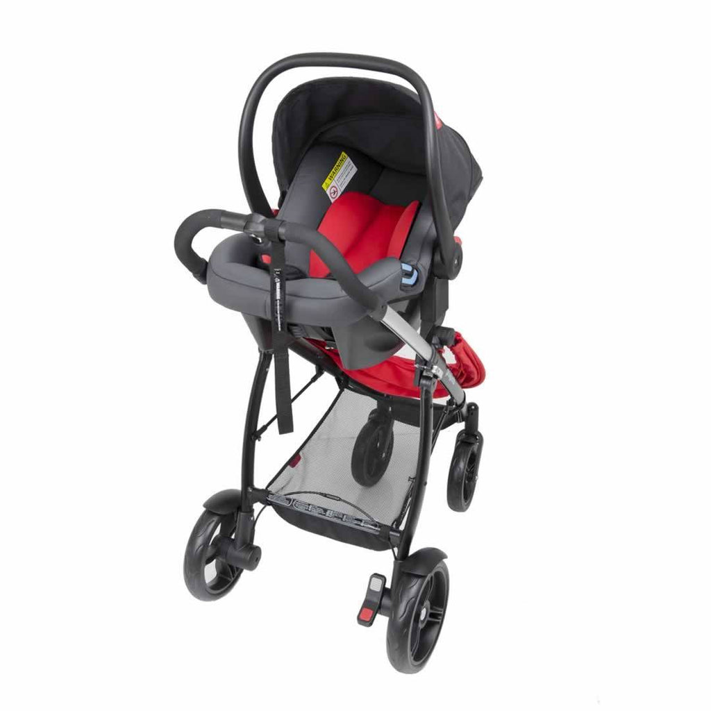 Phil & Teds Alpha Car Seat - Black on Pushchair