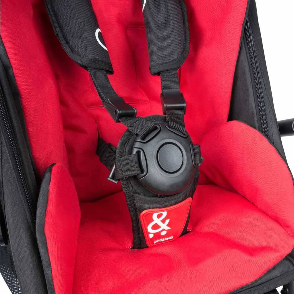 Phil & Teds Dot Pushchair + Double Kit - Chilli Detail