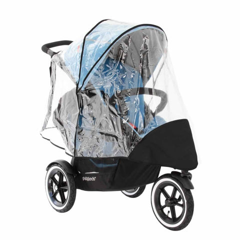Phil & Teds Navigator Double Storm Cover-Raincovers- Natural Baby Shower