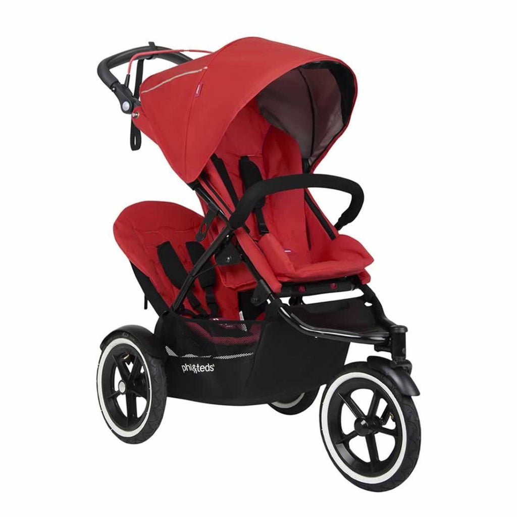 Phil & Teds Sport Pushchair + Double Kit Cherry