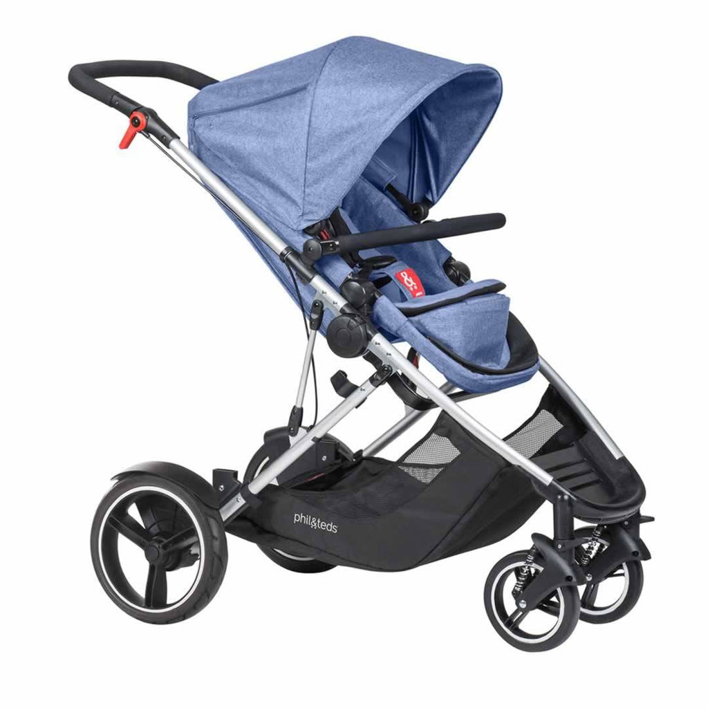 Phil & Teds Voyager Pushchair in Blue Marl
