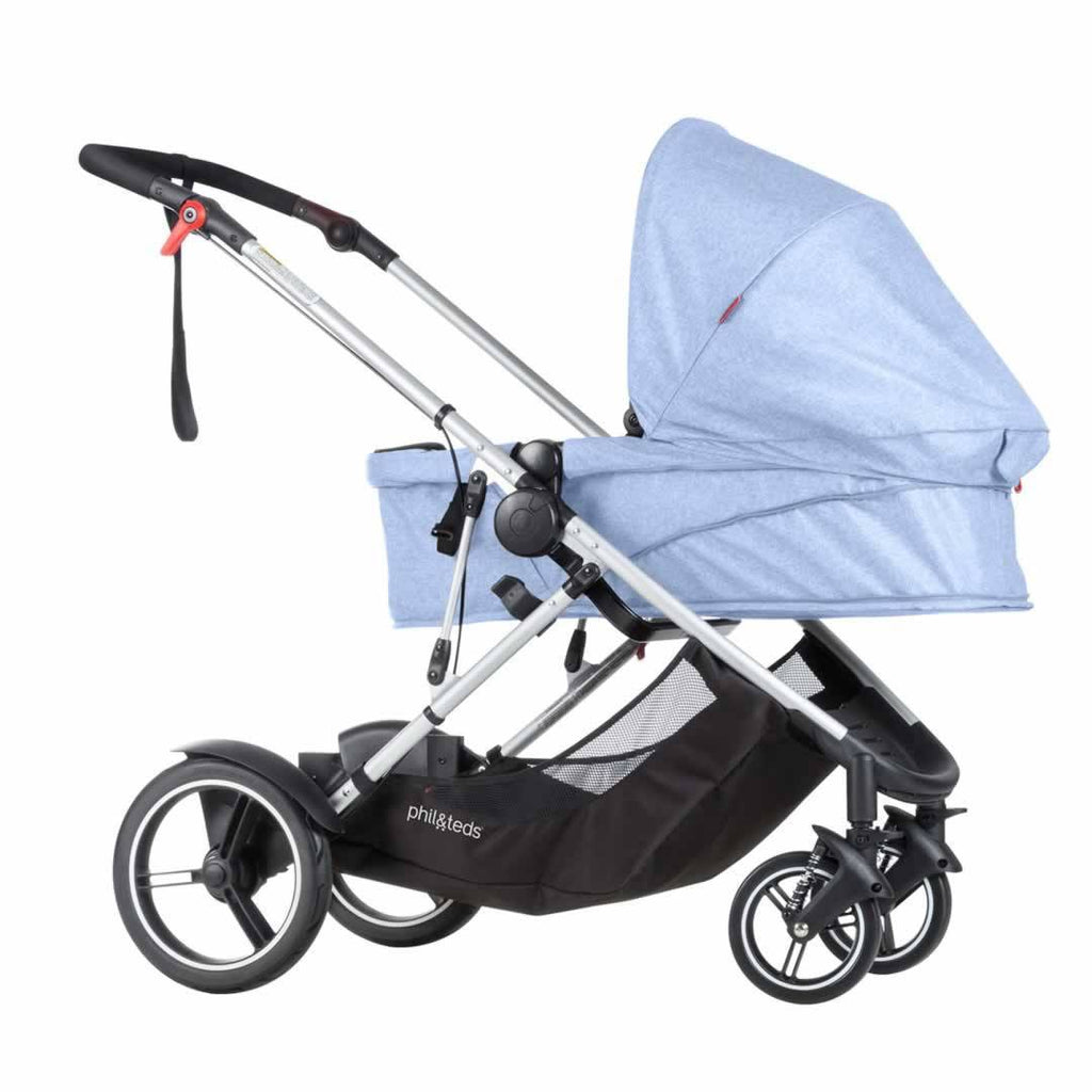 Phil & Teds Voyager Pushchair - Blue Marl Carrycot
