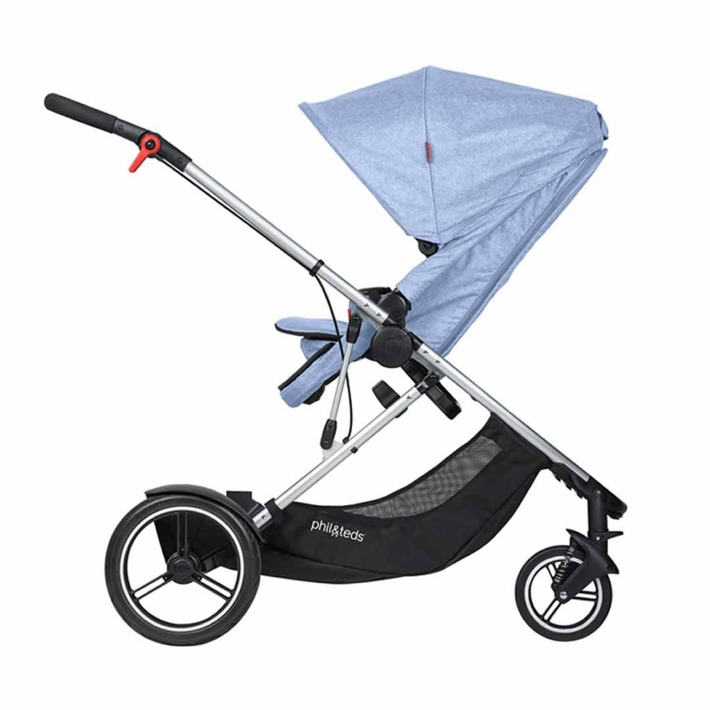 Phil & Teds Voyager Pushchair Blue Marl